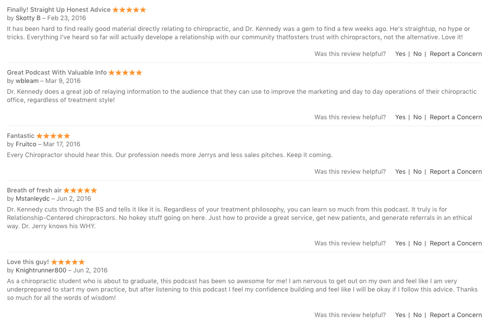 chiropractic podcast reviews in apple podcasts