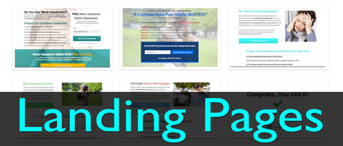 chiropractic landing pages
