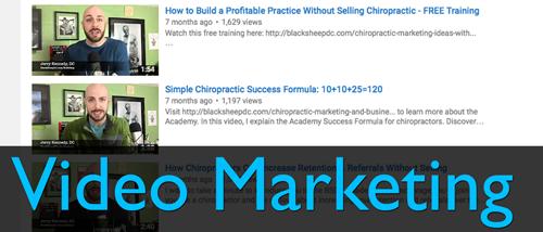 video marketing chiropractic marketing training