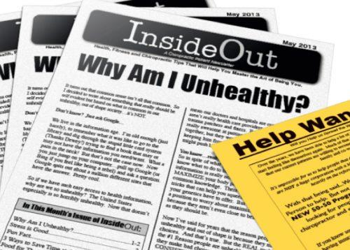 chiropractic patient newsletter chiropractic marketing
