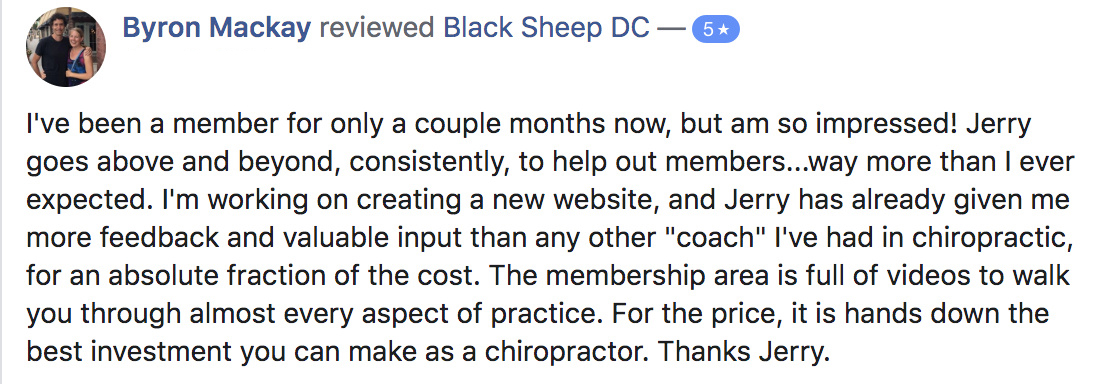 Mackay chiropractic marketing testimonial