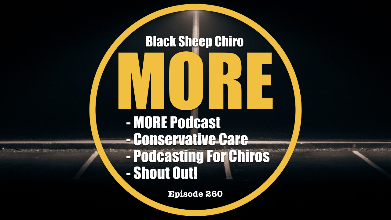black sheep dc more chiropractic podcast