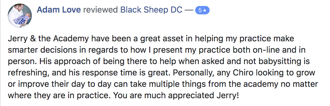 love chiropractic marketing testimonial