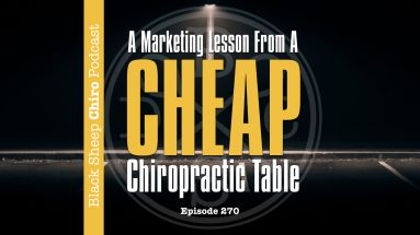 cheap chiropractic table podcast