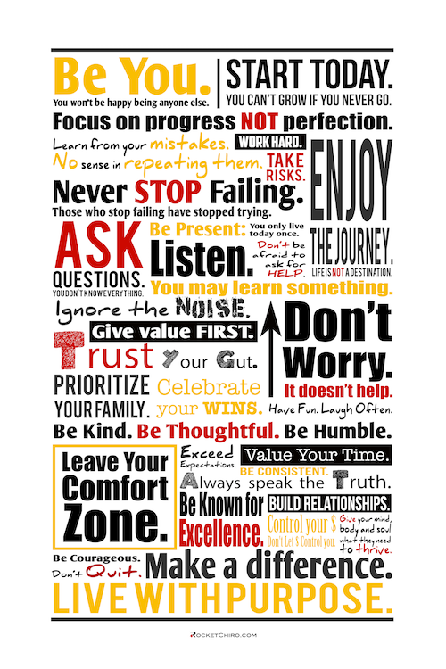 success creed poster rocket chiro